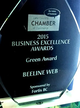 2015 Lake Country Chamber of Commerce Business Excellence award